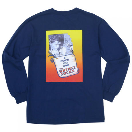 WHIMSY FIENDISH L/S TEE - NAVY