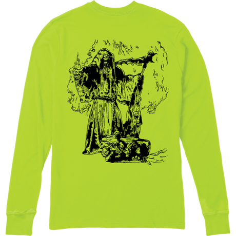 EMERICA X FUNERAL FRENCH REAPER L/S TEE  S,GREEN