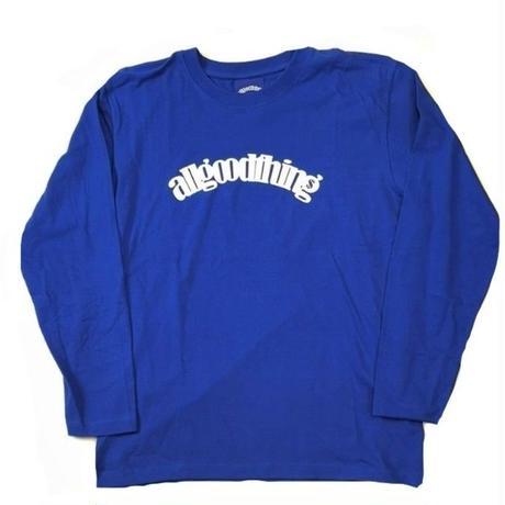 ALLGOODTHINGZ WHITELOGO L/S TEE-BLUE