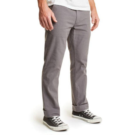 BRIXTON RESERVE CHINO PANT-GREY GINGHAM