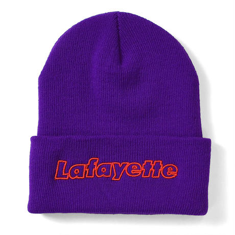 LAFAYETTE OUTLINE HUGE LOGO KNIT CAP-