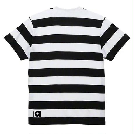 ALLGOODTHINGZ BILLBOARD STRIPE TEE-BLACK