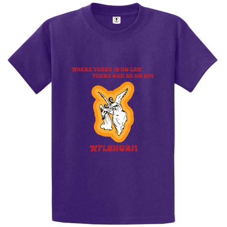 WAFFLESNCREAM  WHITE ANGEL TEE PURPLE