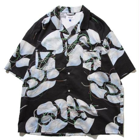 DEMARCOLAB  BRANCHES & LEAVES WIDE SHIRT-BLACK