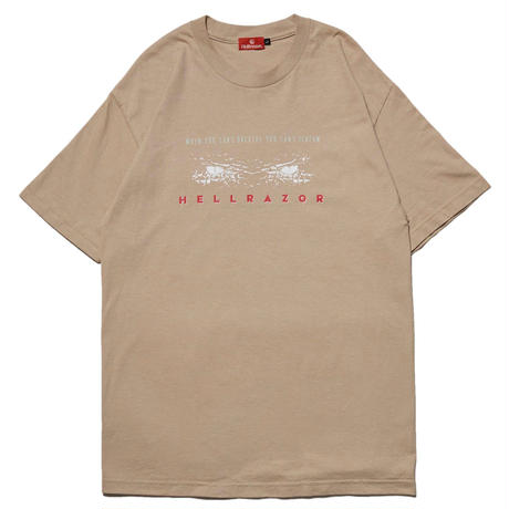 HELLRAZOR CANT SCREAM TEE-SAND