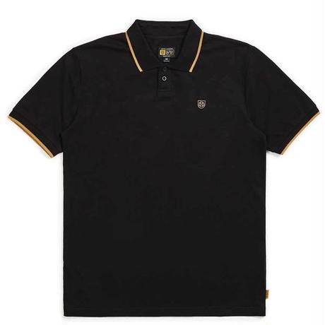 BRIXTON X INDEPENDENT GUARD S/S POLO-BLACK