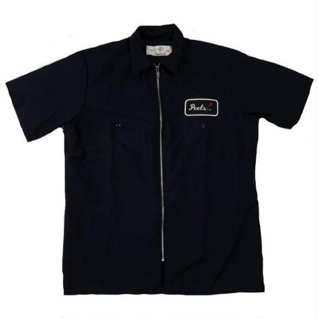 PEELS FULLZIP WORK SHIRT  NAVY
