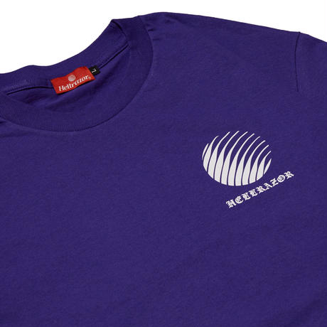 HELLRAZOR OL'ENGLISH LOGO TEE-PURPLE