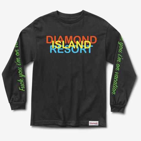 DIAMOND SUPPLY CO RESORT L/S TEE-BLACK