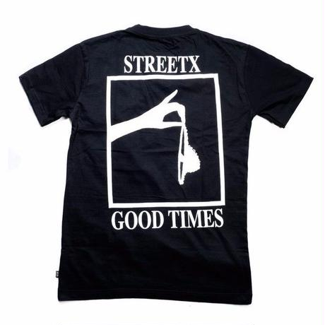 STREETX GOOD TIMES  TEE     BLACK