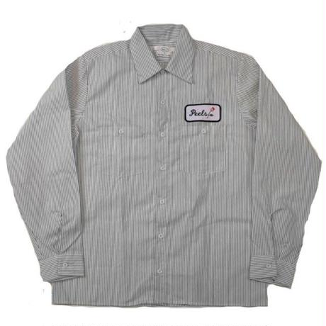 PEELS WORK L/S SHIRT STRIPE