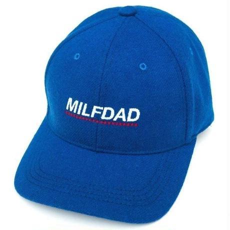 MILFDAD  LOGO 6-PANEL CAP-BLUE