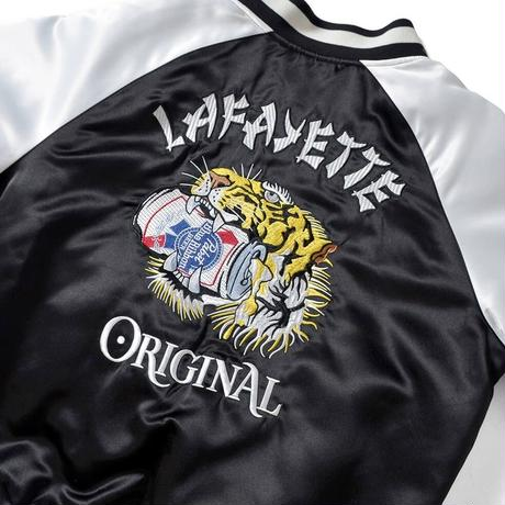LAFAYETTE PABST BLUE RIBBON  TIGER SOUVENIR JACKET-BLACK