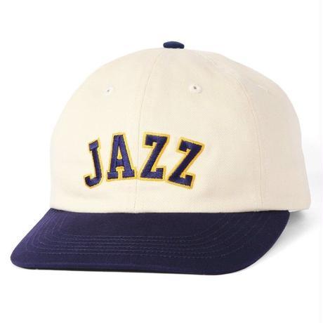 BUTTER GOODS JAZZ 6 PANEL CAP- NATURAL / NAVY