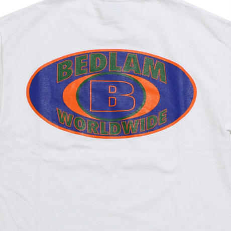 BEDLAM WORLDWIDE S/S TEE-WHITE