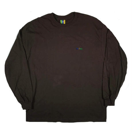 BEDLAM-ASHRAMLOGO L/S TEE-D,BROWN