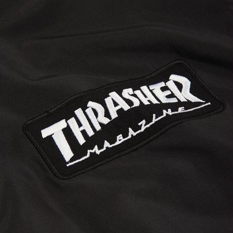 THRASHER BOMBER JACKET-BLACK