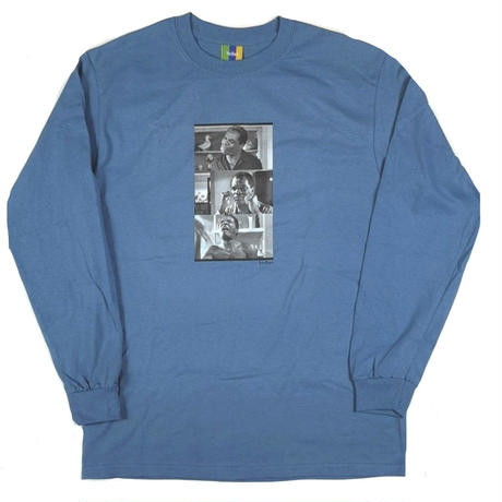 BEDLAM FRIDAY L/S TEE-INDIGOBLUE