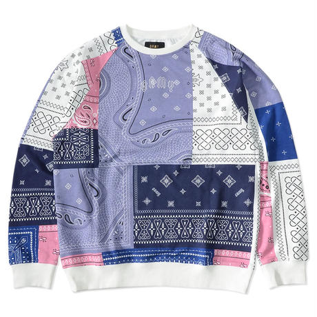 GRIMEY CARNITAS ALLOVER PRINT CREWNECK-WHITE