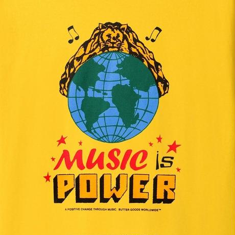 BUTTER GOODS MUSIC IS POWER TEE-YELLOW