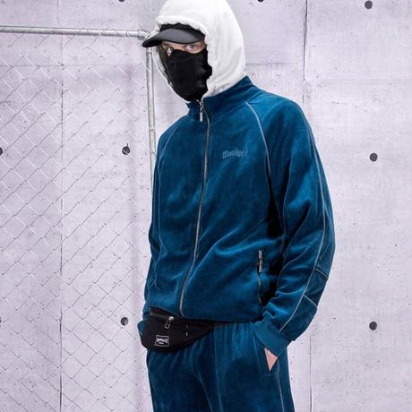 WASTED PARIS VELVET TRACKSUIT RIVER BLUE