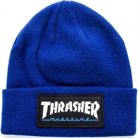 THRASHER LOGOPACTH BEANIE-ROYAL BLUE