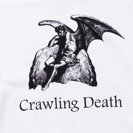 CRAWLING DEATH  LUCIFER L/S TEE   WHITE