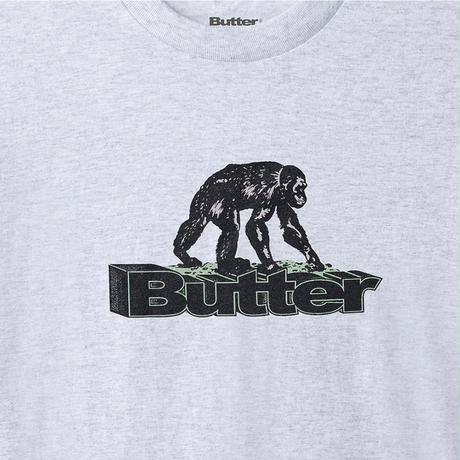 BUTTER GOODS PRIMATE TEE-A,GREY