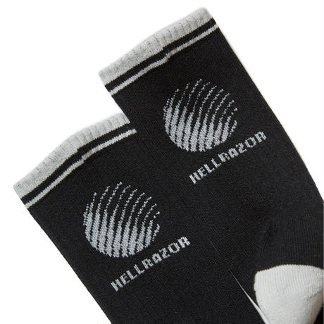HELLRAZOR LOGO SOX-BLACK