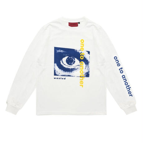 WASTED PARIS ONE TO ANOTHER L/S TEE  WHITE