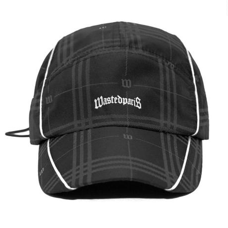 WASTED PARIS GOST TARTAN REFLECTIVE CAP-BLACK