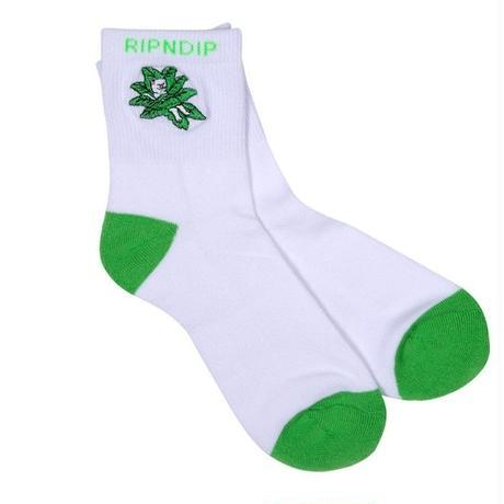 RIPNDIP TUCKED IN SOCKS-WHITE/GREEN