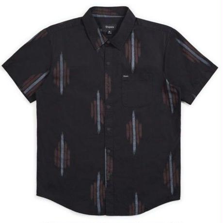 BRIXTON CHARTER PRINT S/S WOVEN-BLACK/RED