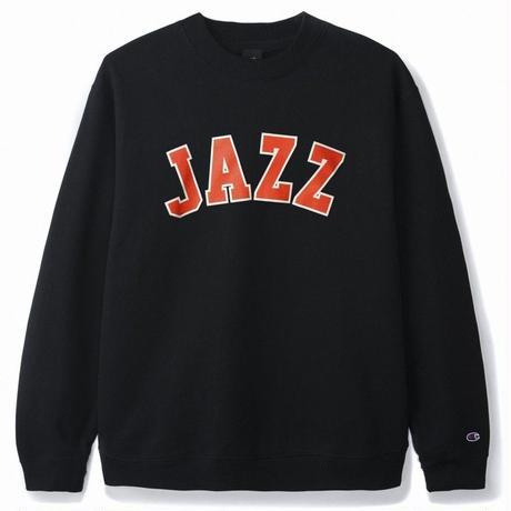 BUTTER GOODS JAZZ CHAMPION CREWNECK, BLACK