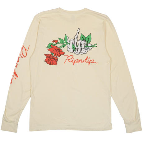 RIPNDIP DEAD ROSE L/S TEE      YELLOW