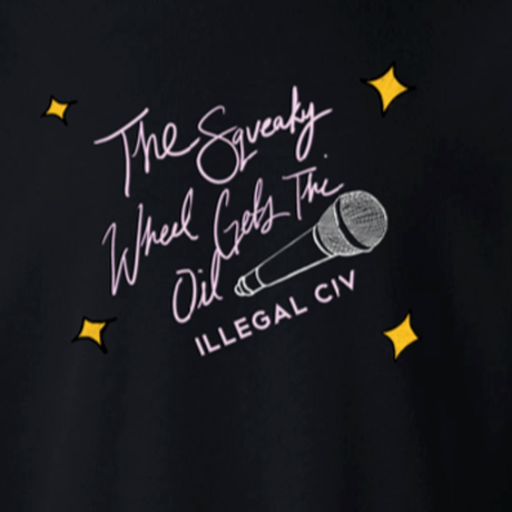 ILLEGAL CIVILIZATION  SQUEAKY WHEEL C,NECK BLACK