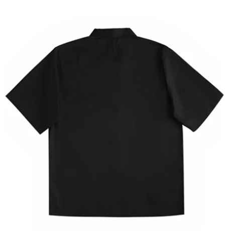 UNKNOWN 2 GIRL CUBAN SHIRT-BLACK