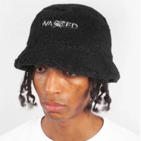 WASTED PARISSHERPA BUCKET HAT-BLACK