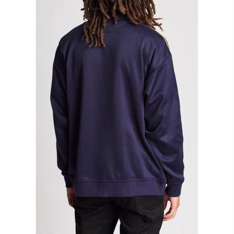 BRIXTON UNITED MOCK NECK FULLZIP FLEECE-PATRIOT BLUE