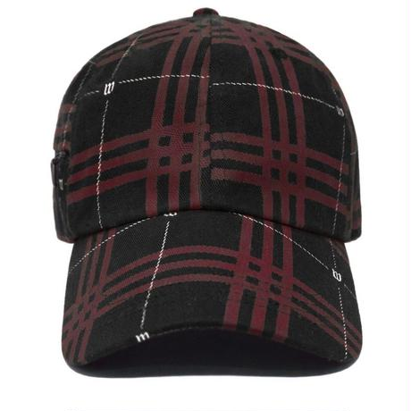 WASTED PARIS TARTAN CAP-BLACK/RED