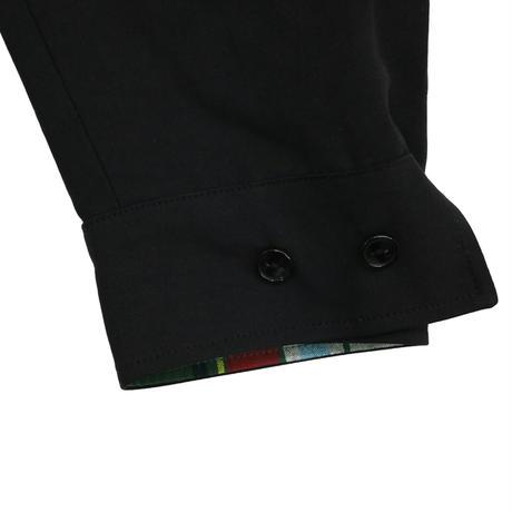WHIMSY  PLAID REVERSIBLE HARRINGTON JACKET -  BLACK