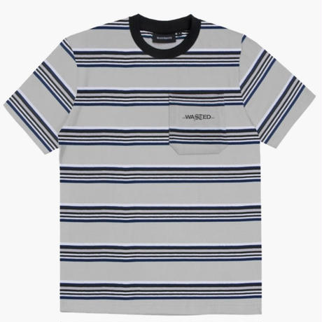 WASTED PARIS STRIPES S/S TEE-WHITE/BLUE
