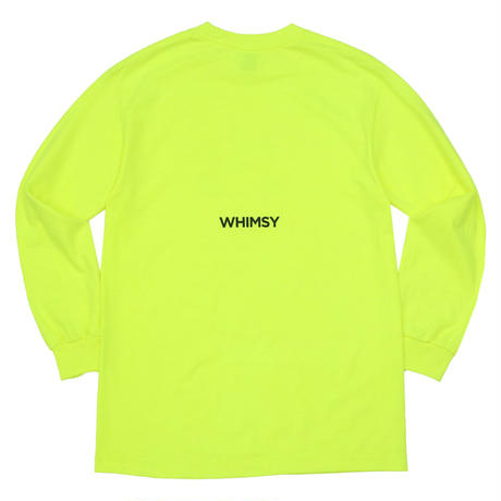 WHIMSY  POISON L/S TEE - SAFETY GREEN