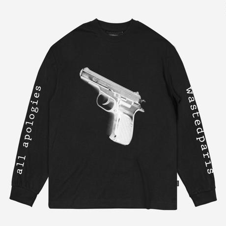 WASTED PARIS APOLOGIES L/S TEE-BLACK