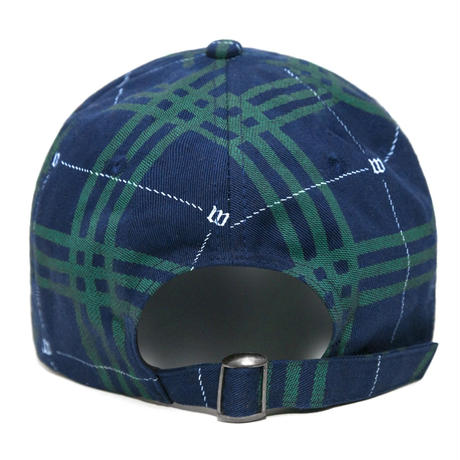 WASTED PARIS TARTAN CAP-BLU/GREEN