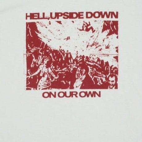 ON OUR OWN HELL UPSIDE DOWN TEE   WHITE