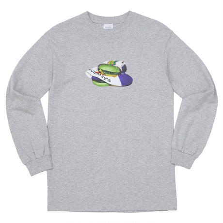 WHIMSY / POISON L/S TEE - H,GREY