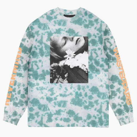 WASTED PARIS NEVERMIND L/S TEE-MARBLE DYE BLUE