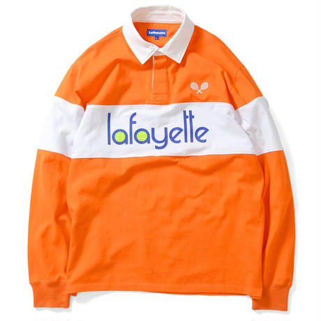 LAFAYETTE TENNIS LOGO L/S SHIRT-ORANGE