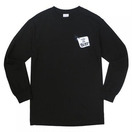 WHIMSY FIENDISH L/S TEE - BLACK